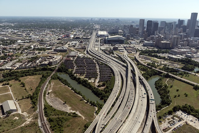 aerial-view-houston-highways