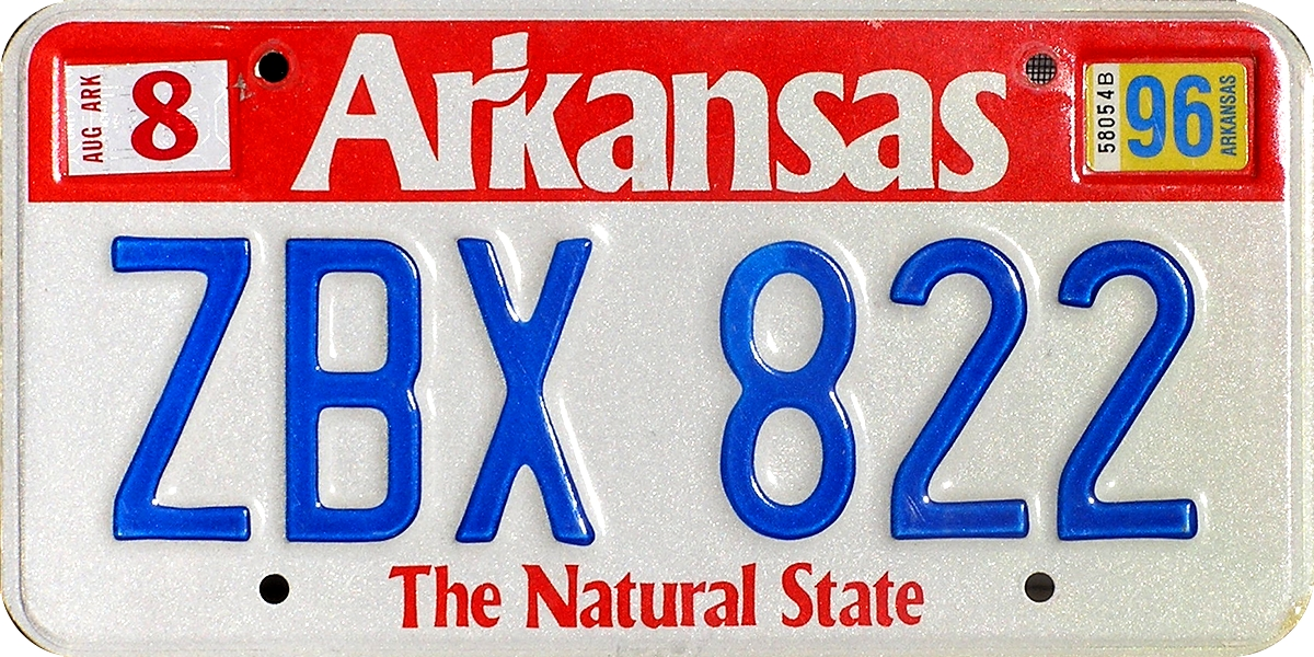Arkansas License Plate